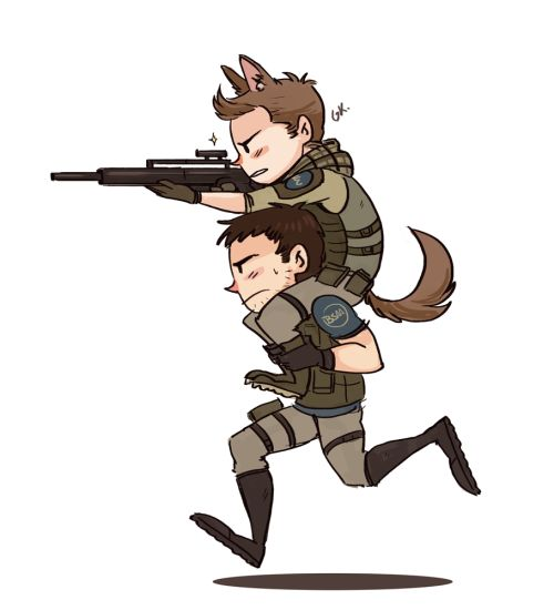daaa captain and his puppy u003e_u003eu0027u0027 Character from Resident Evil 6 chris and  piers