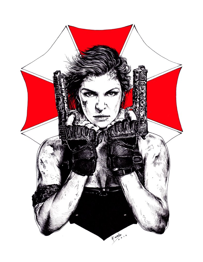 Resident Evil - The Final Chapter By Car-Resident Evil - The final chapter by Carella-Art ClipartLook.com -18