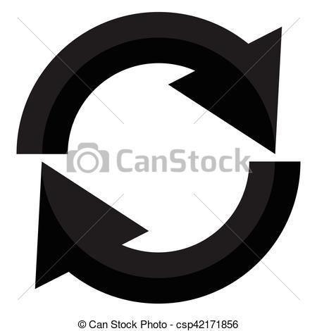 Rotation, restart, twist, turn concept icon