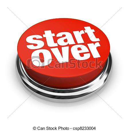 Start Over Renewal Restart Round Red But-Start Over Renewal Restart Round Red Button - csp8233004-9