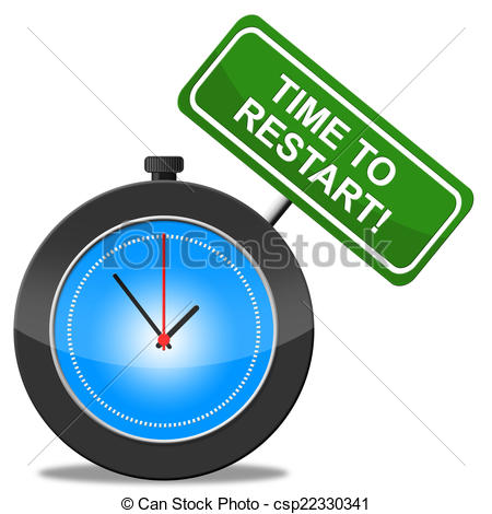 Time To Restart Shows Begin Over And Aga-Time To Restart Shows Begin Over And Again - csp22330341-5