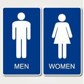Restroom icon male and female u0026middot; Restrooms Sign