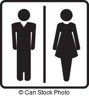 ... Restroom symbols - Man and woman signs for toilet, restroom,.
