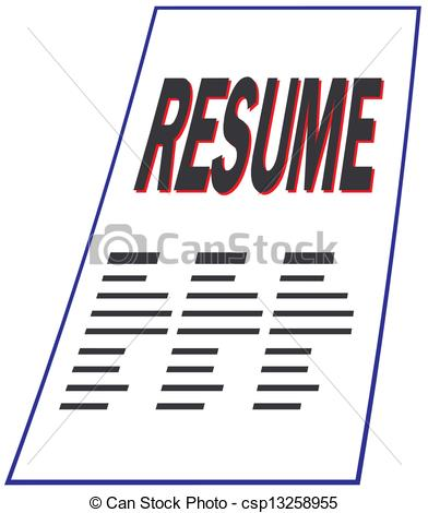 Resume And Job Search Clipart. Resume - csp13258955