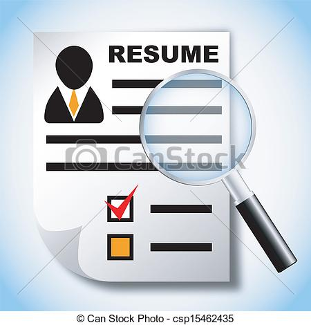 ... Resume and magnifying glass, human resource, recruitment