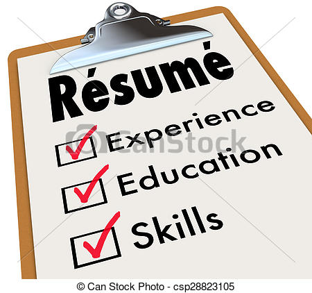 28  Collection of Resume Clipart