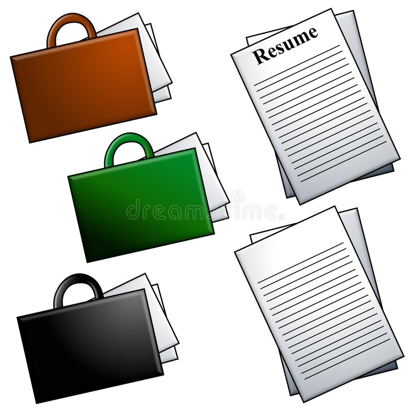 Download Briefcases And Resume Clip Art Stock Illustration - Illustration  of image, objects: 4122817