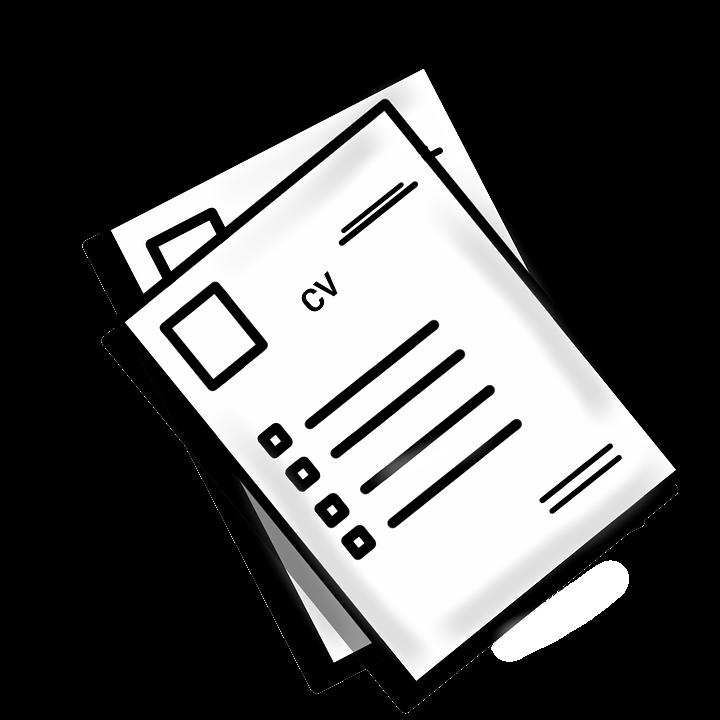 resume cv hr job experience vector clip clipart
