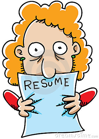 Resume Looking At Clipart #1
