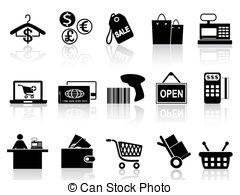 . ClipartLook.com black retail and shopping icons set - isolated black retail. ClipartLook.com ClipartLook.com