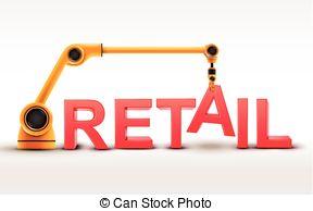 . ClipartLook.com industrial robotic arm building RETAIL word on white. ClipartLook.com ClipartLook.com