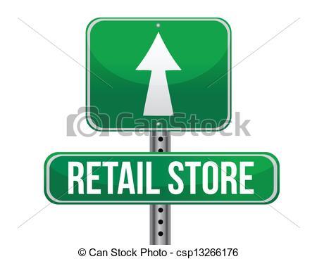 retail store road sign - csp13266176