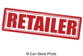 . ClipartLook.com Retailer - Stamp with word retailer inside, vector.