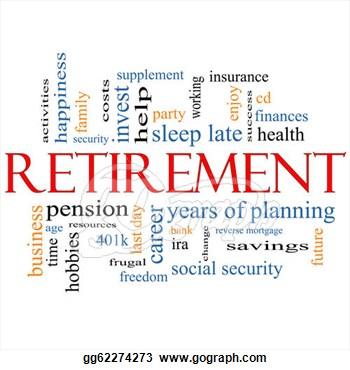 retirement clipart