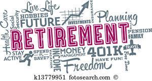 Retirement Planning Word Collage