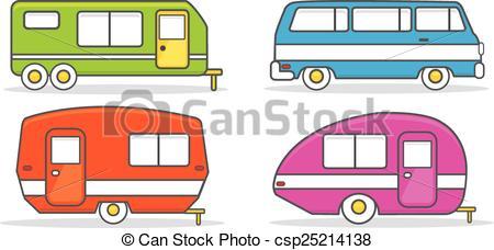 ... Retro Caravan Mobile Home - Retro Ca-... Retro caravan mobile home - Retro camping caravan mobile.-12