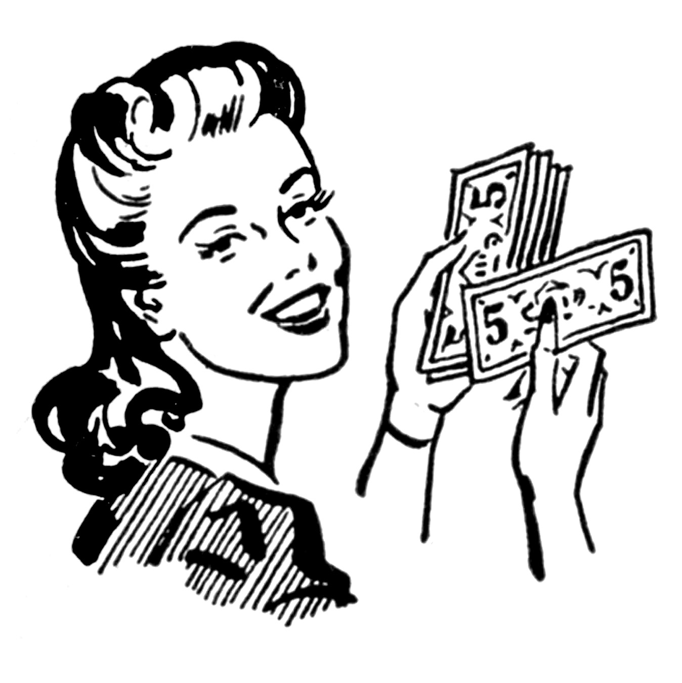 Retro Clip Art U2013 Money Moms U2013 Wo-Retro Clip Art u2013 Money Moms u2013 Women-10