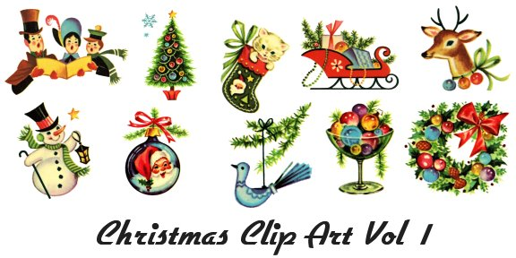 Retro Clip Art of Vintage .