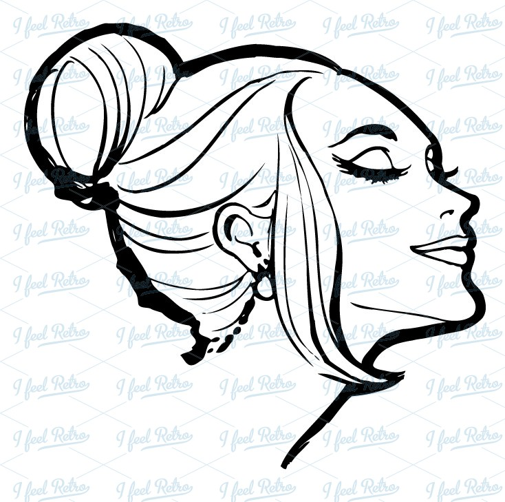 Retro Clipart Woman With Beautiful Feelings Authentic Vintage