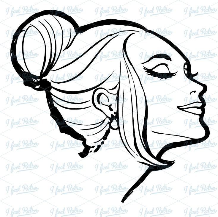 Retro Clipart Woman With Beautiful Feeli-Retro Clipart Woman With Beautiful Feelings Authentic Vintage-14