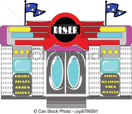 Retro Diner On Csp6795591 Search Clipart Illustration Drawings