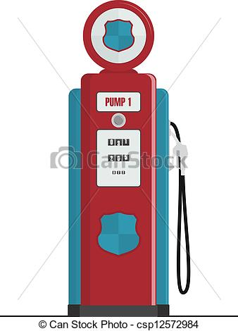 ... Retro Gas Pump, isolated vector illustrations
