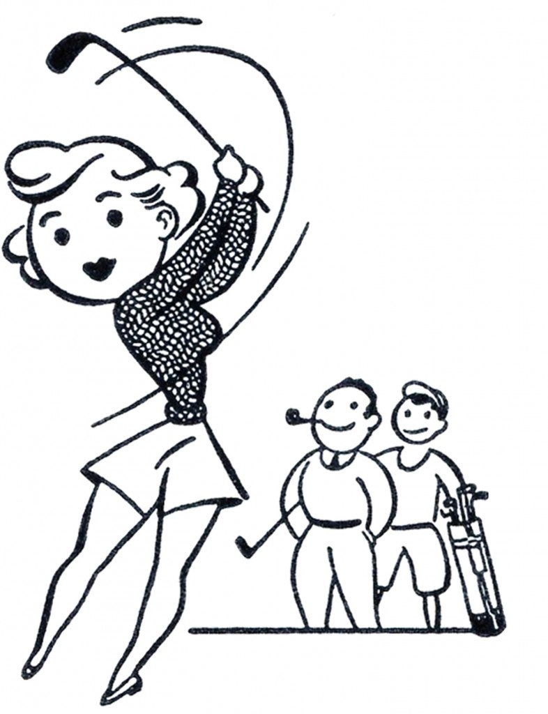 Retro Golf Clip Art Funny The Graphics F-Retro Golf Clip Art Funny The Graphics Fairy-15