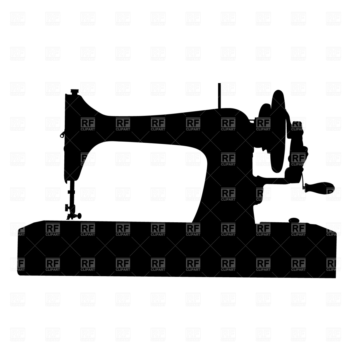 Retro sewing machine silhouette, 1468, Silhouettes, Outlines, download 1200 x 1200. Download. Sewing-machine ...