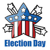 ... Retro Star Badge - Election Day