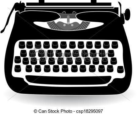 ... retro typewriter vector illustration