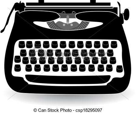 ... retro typewriter vector illustration
