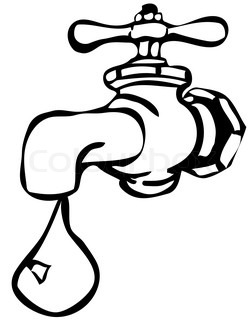 Retro Water Tap Hydrant Fireplug Vector