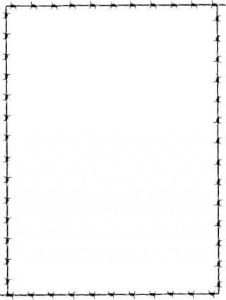 Revans Barbed Wire Border clip art Vector clip art - Free vector