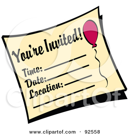 Rf Clipart Illustration Of A You Re Invited Birthday Party Invitation