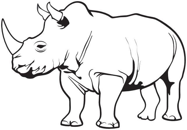 Rhino clipart .