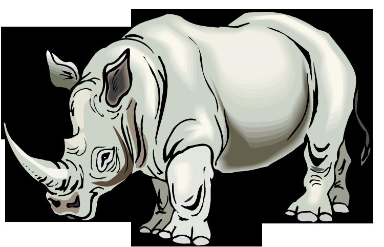 Rhino Clipart-Rhino Clipart-10