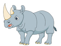 rhinoceros anima. Size: 64 Kb