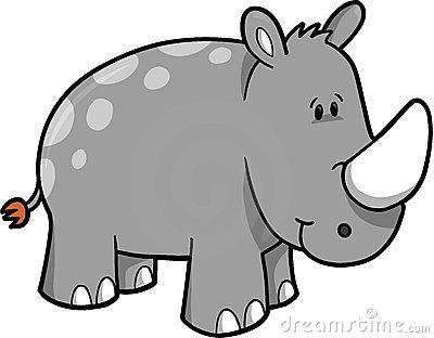 Rhinoceros Clip Art Rhinoceros Vector Illustration 6857134 Jpg