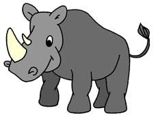 Rhinoceros Clipart-Rhinoceros Clipart-3