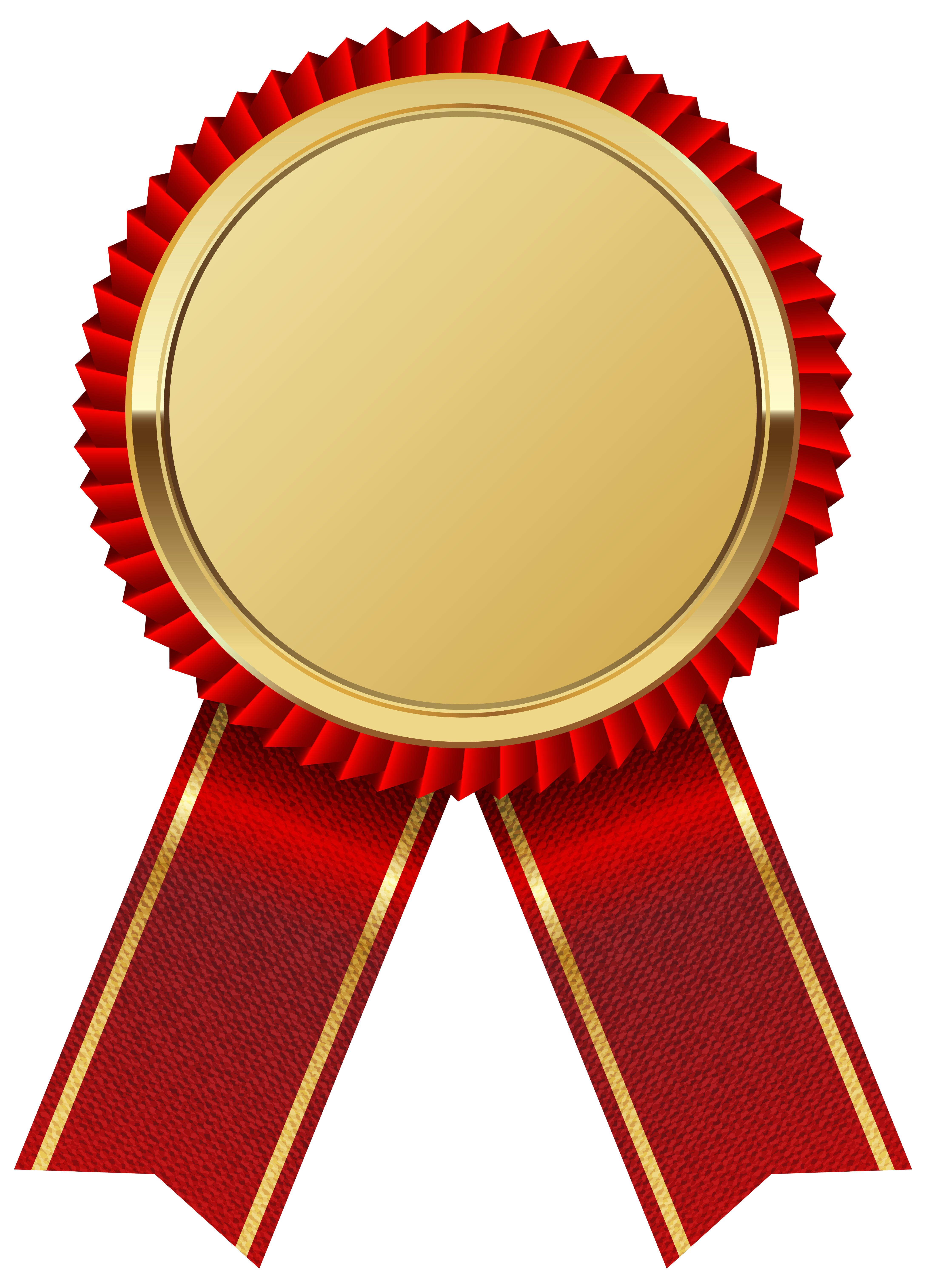 Gold Medal With Red Ribbon PNG Clipart I-Gold Medal with Red Ribbon PNG Clipart Image-7