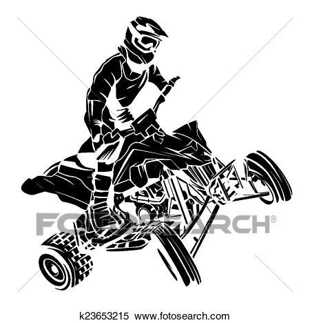 ATV moto rider