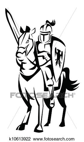 Clipart - knight rider horse. Fotosearch - Search Clip Art, Illustration  Murals, Drawings