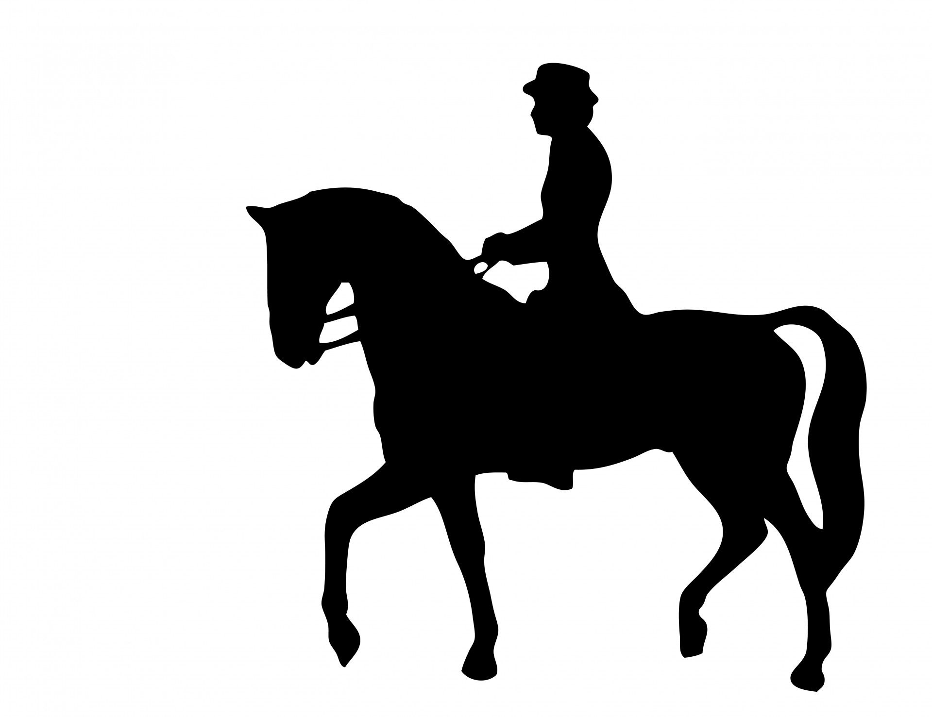 horse riding Silhouette | Horse Rider Silhouette Clipart Free Stock Photo  HD - Public Domain .