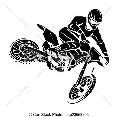 Moto cross rider - csp23653208