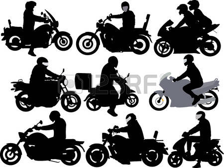 motorcycle riders Illustration