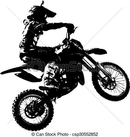 Rider Participates Motocross Championshi-Rider Participates Motocross Championship. Vector Illustration.-19