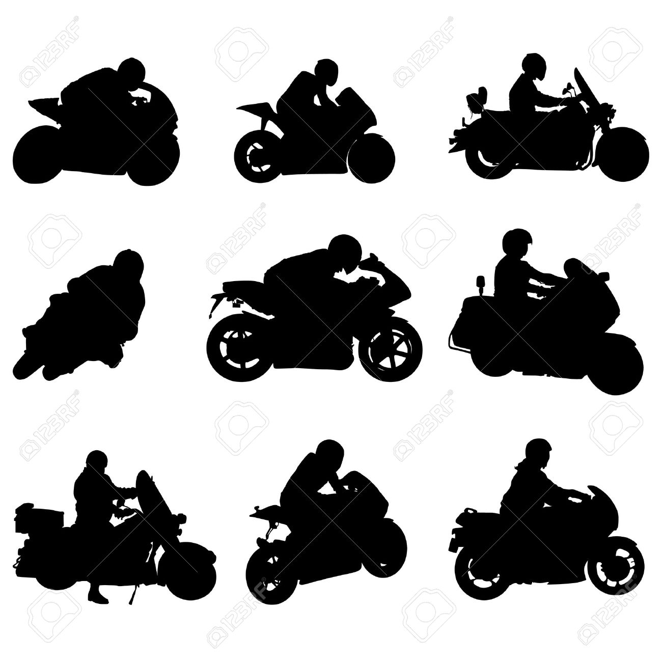 Scooter Rider Silhouette Clipart #1