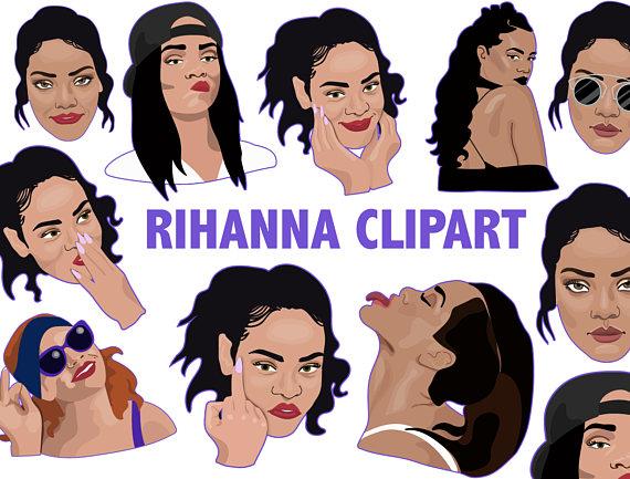 Rihanna Clipart-Clipartlook.com-570
