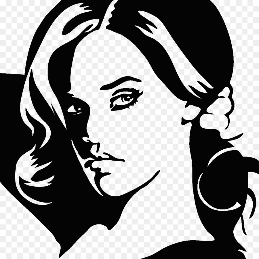 Silhouette Art Black and white - rihanna