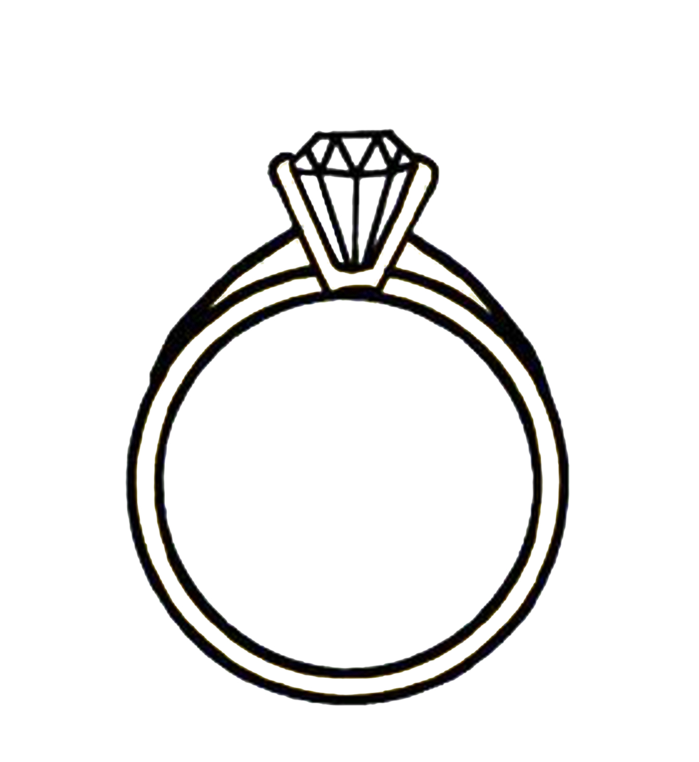 ring clipart black and white - Wedding Ring Clip Art